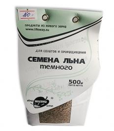 Семена льна темного 500 гр