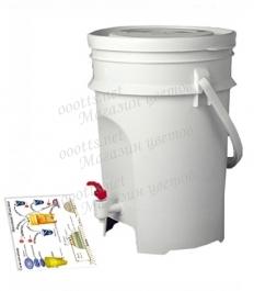 Ведро ЭМ-контейнер для ферментации органических отходов 15 л